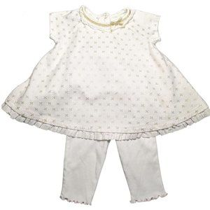 First Impression Baby Girl's White Cotton Outfit